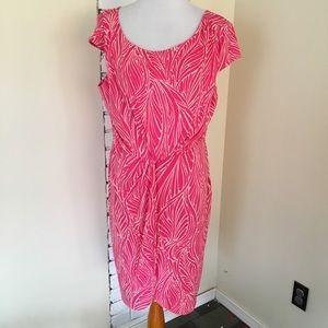 Victoria's Secret Twist Wrap Pink Printed Dress XL